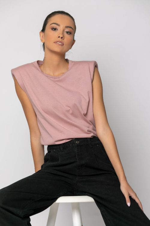 T-shirt με βάτες-ΣΑΠΙΟ ΜΗΛΟ