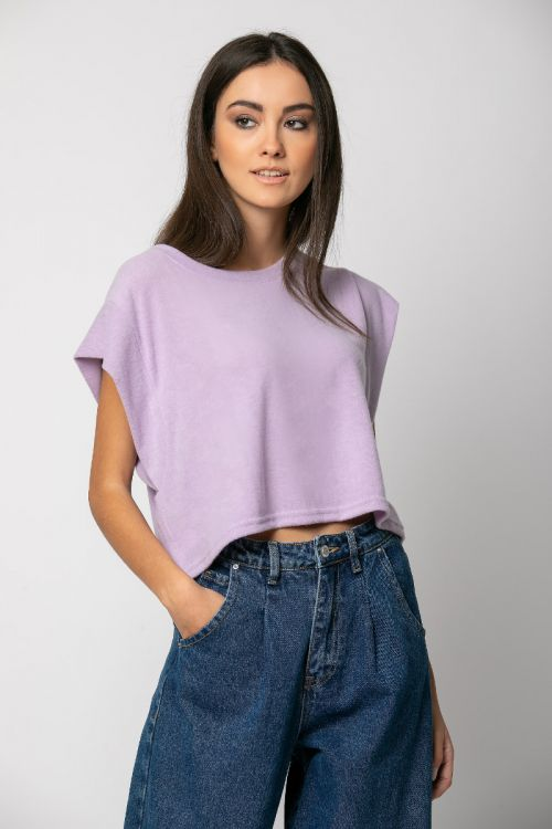 Μπλούζα με άνοιγμα στη μασχάλη-ΛΙΛΑ