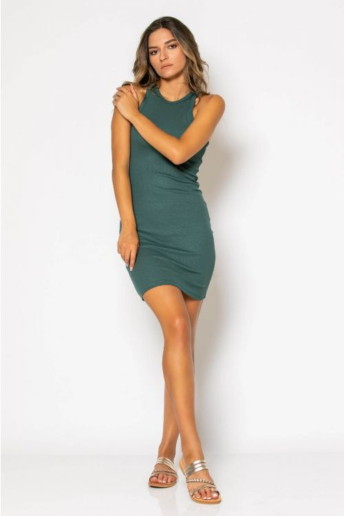 Αμάνικο ριπ φόρεμα-ΚΥΠΑΡΙΣΣΙ
