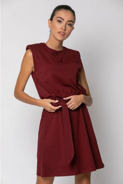 Μίνι φόρεμα με βάτες -ΜΠΟΡΝΤΟ