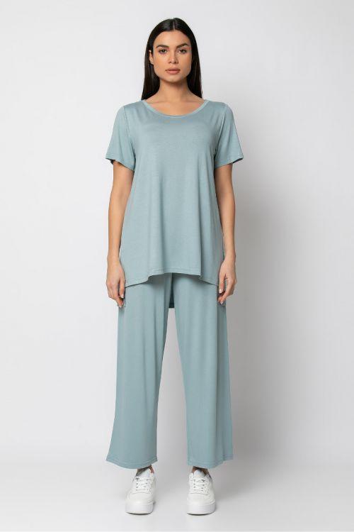 Σετ παντελόνι με t-shirt-ΜΕΝΤΑ