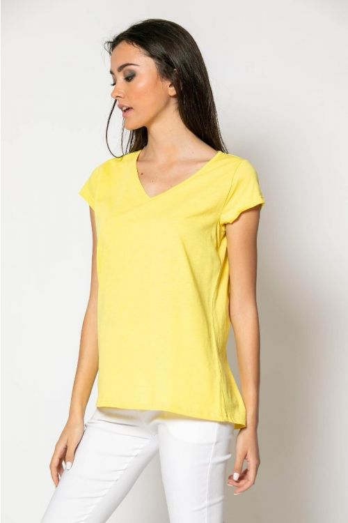 T-shirt basic-ΚΙΤΡΙΝΟ