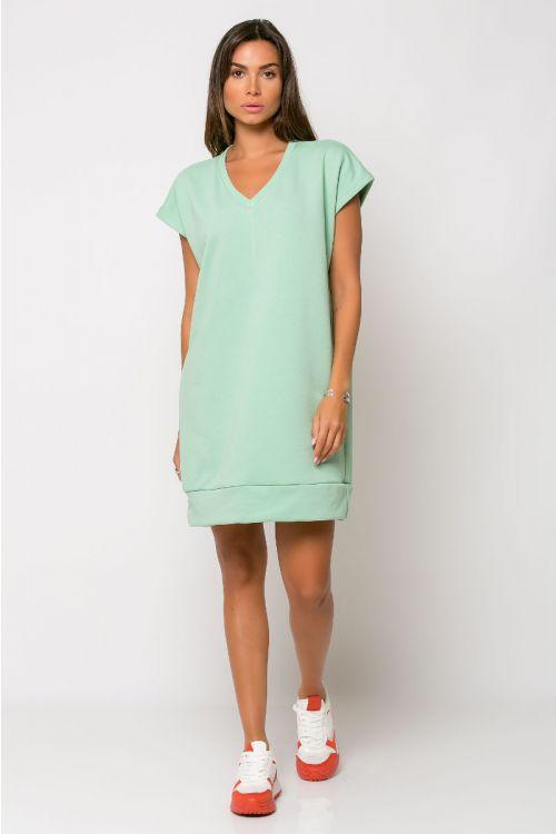 Φόρεμα φούτερ με V λαιμόκοψη-ΒΕΡΑΜΑΝ