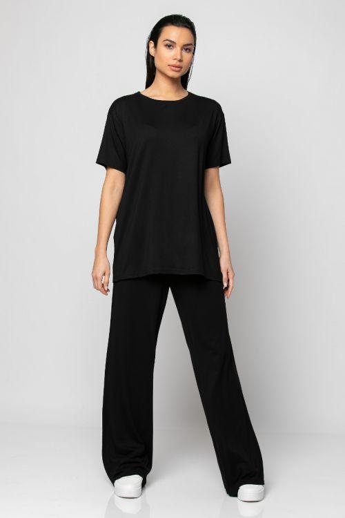 Σετ t-shirt με παντελόνι-ΜΑΥΡΟ