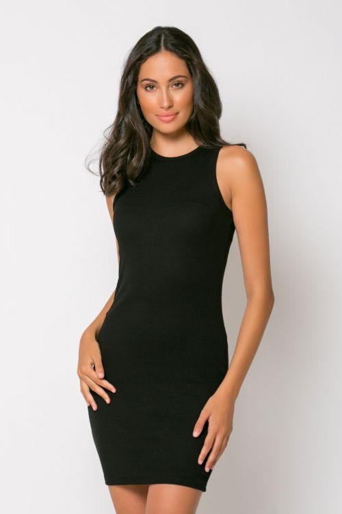 Φόρεμα ριπ μίνι messina-ΜΑΥΡΟ