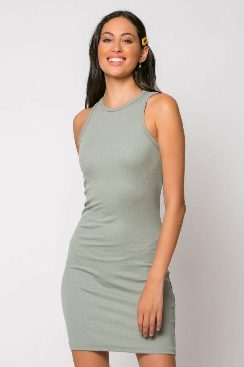 Φόρεμα ριπ μίνι messina-ΓΚΡΙ ΤΟΥ ΠΑΓΟΥ