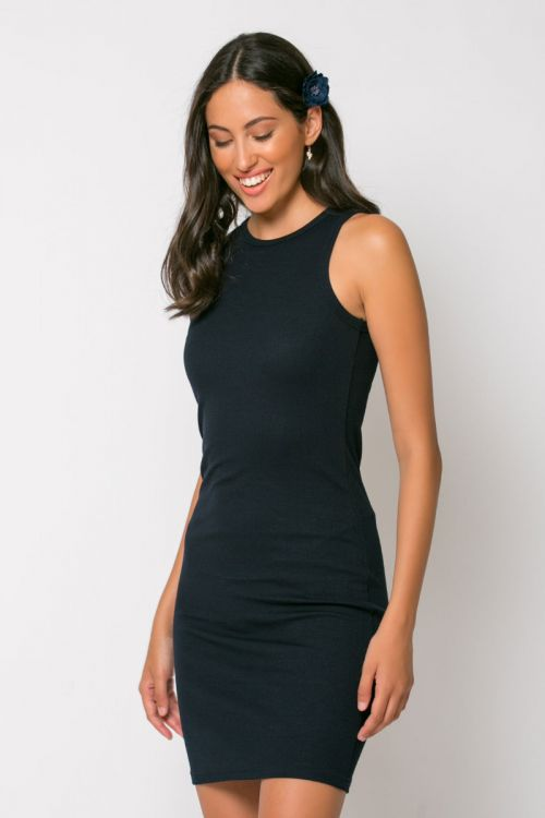 Φόρεμα ριπ μίνι messina-ΜΠΛΕ NAVY