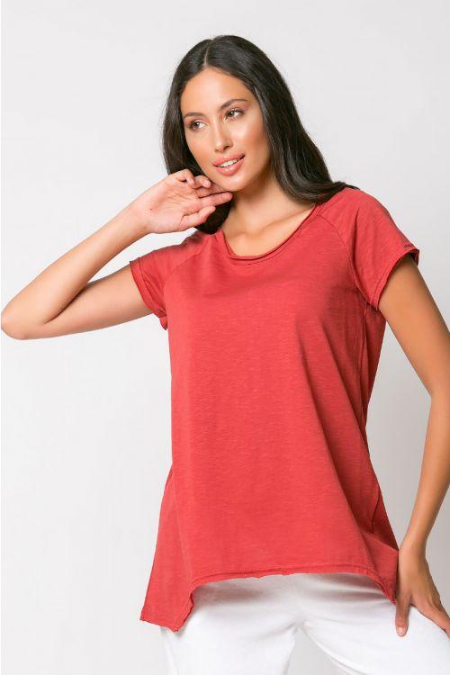 Ασύμμετρο basic t-shirt rome-ΚΕΡΑΜΙΔΙ
