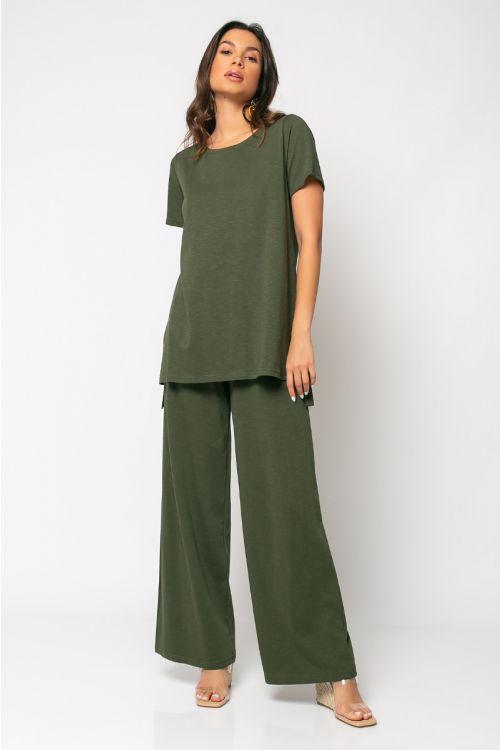 Σετ παντελόνι με t-shirt palermo-ΧΑΚΙ