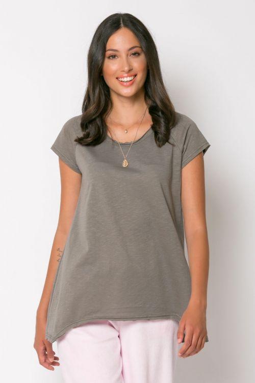 Ασύμμετρο basic t-shirt rome-ΕΛΕΦΑΝΤ