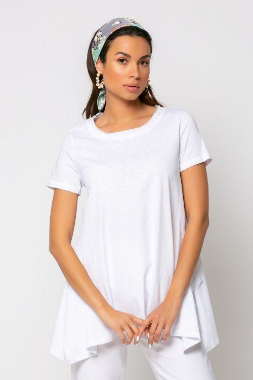 T-shirt με μύτες naples-ΛΕΥΚΟ