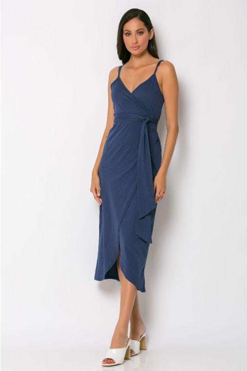 Φόρεμα κρουαζέ milan-ΜΠΛΕ DENIM