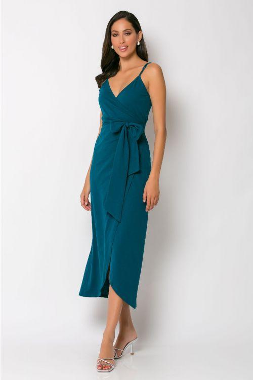 Φόρεμα κρουαζέ milan-ΠΕΤΡΟΛ