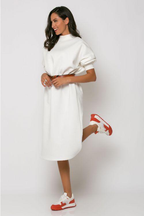 Φούτερ φόρεμα ζιβάγκο reggio-ΕΚΡΟΥ