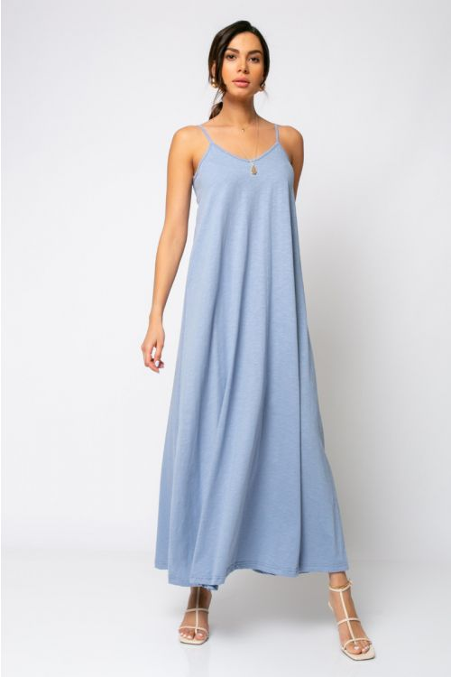 Μίντι φόρεμα ραντάκι rome-ΓΑΛΑΖΙΟ