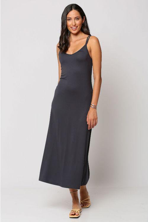 Μίντι φόρεμα brescia-ΑΝΘΡΑΚΙ
