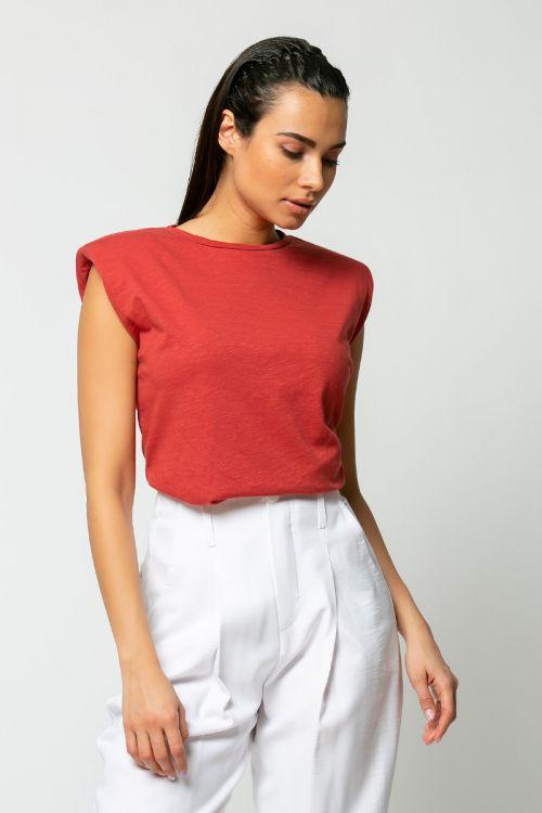 T-shirt με βάτες-ΚΕΡΑΜΙΔΙ