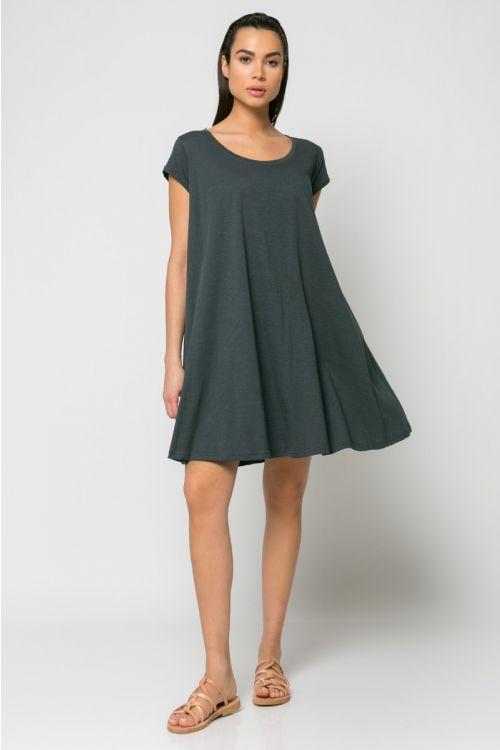 Φόρεμα kloss-ΑΝΘΡΑΚΙ