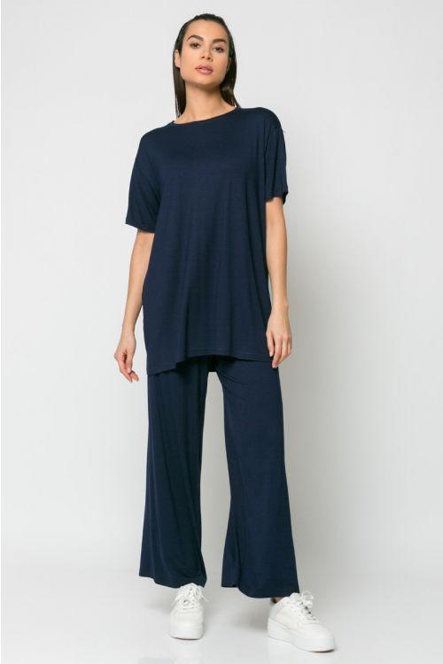 Σετ παντελόνι και t-shirt-ΜΠΛΕ NAVY