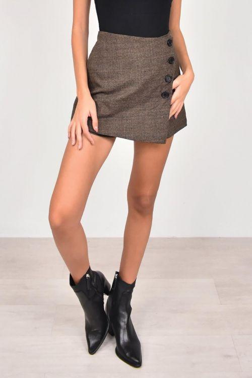 Καρό φούστα σορτς-ΚΑΡΟ
