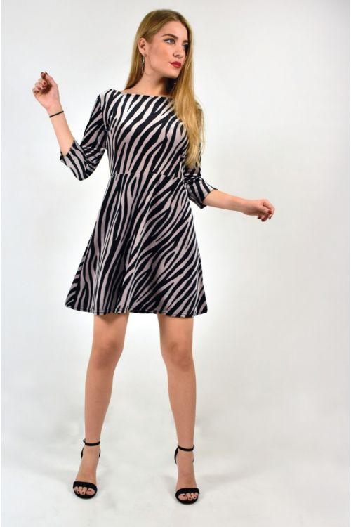 Μίντι φόρεμα animal print-ANIMAL PRINT