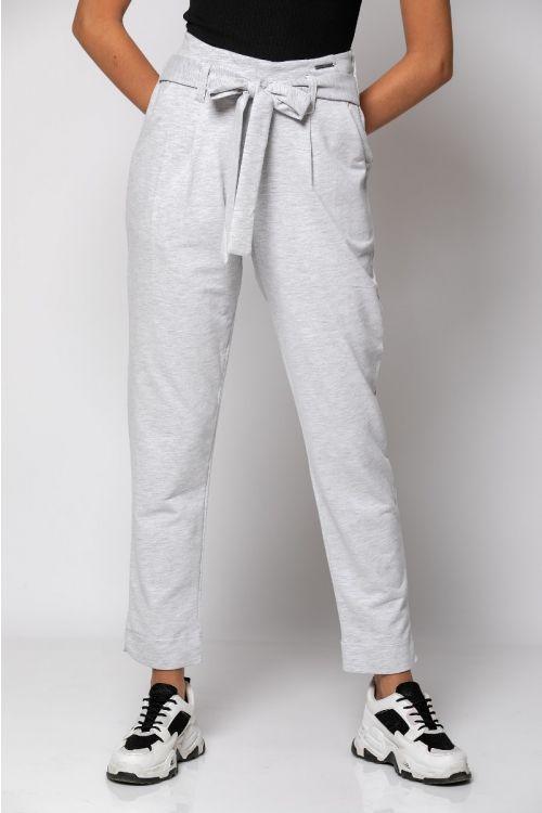 Παντελόνι με ενσωματομένο ζωνάκι-ΓΚΡΙ
