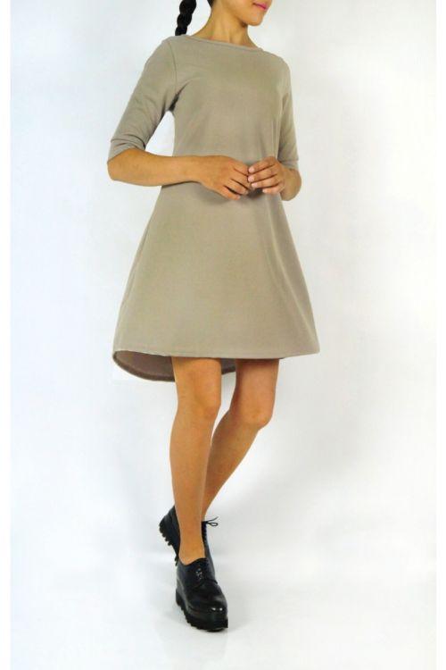 Φόρεμα με πιέτα στην πλάτη-ΜΠΕΖ