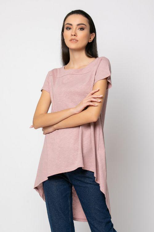 Ασύμμετρο t-shirt-ΣΑΠΙΟ ΜΗΛΟ