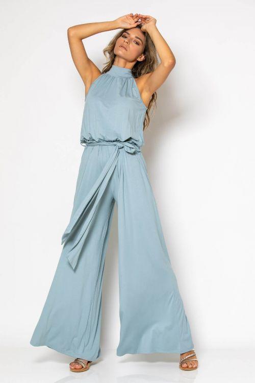 Ολόσωμη φόρμα με ζωνάκι-ΤΙΡΚΟΥΑΖ
