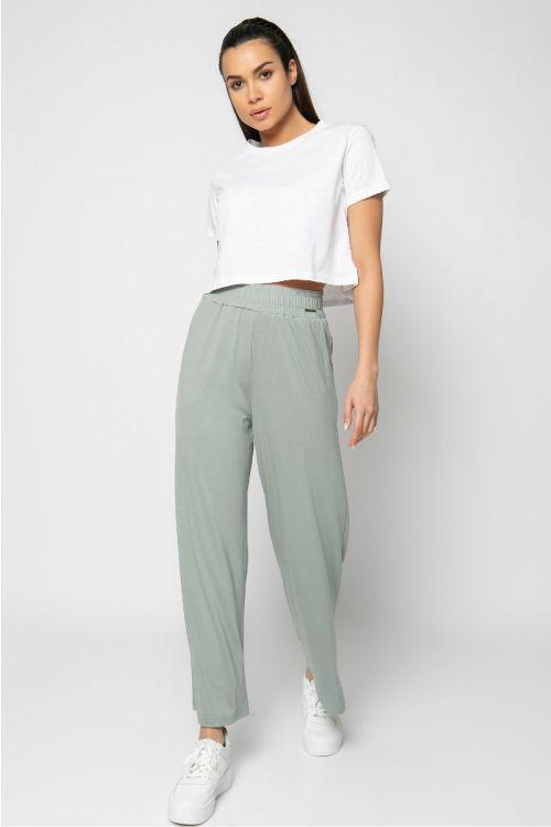 Παντελόνα με λάστιχο στη μέση-ΓΚΡΙ ΤΟΥ ΠΑΓΟΥ