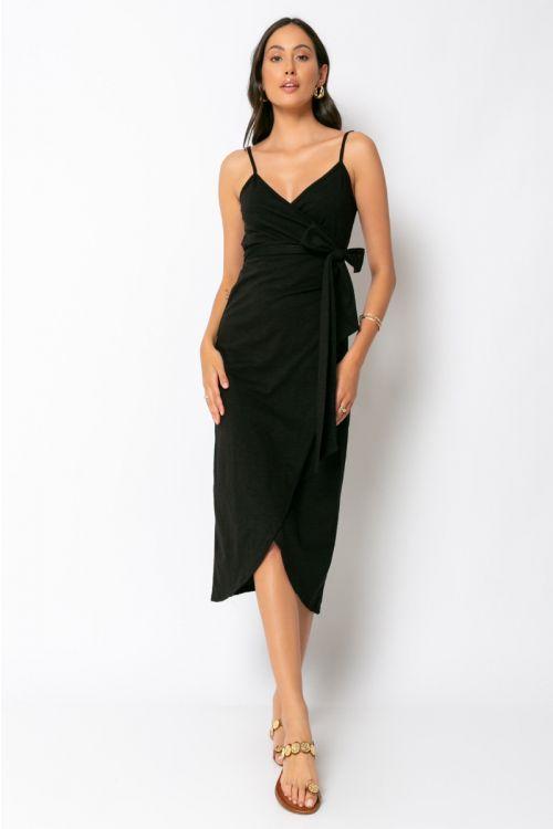 Φόρεμα κρουαζέ milan-ΜΑΥΡΟ