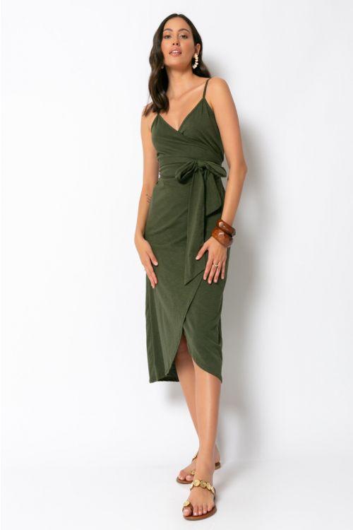 Φόρεμα κρουαζέ milan-ΧΑΚΙ