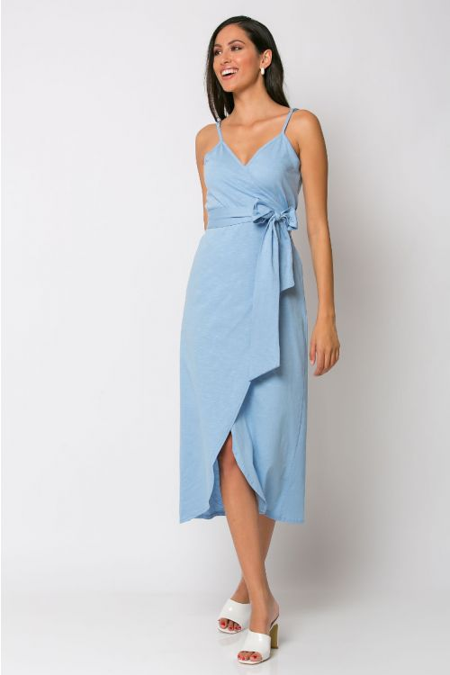 Φόρεμα κρουαζέ milan-ΓΑΛΑΖΙΟ
