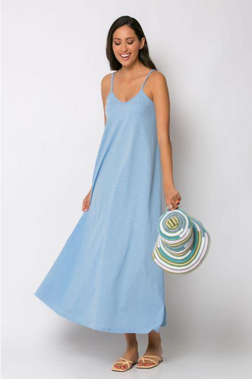 Μίντι φόρεμα ραντάκι rome-ΣΙΕΛ