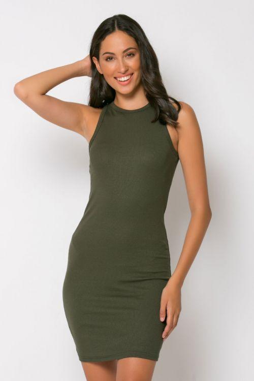 Φόρεμα ριπ μίνι messina-ΧΑΚΙ