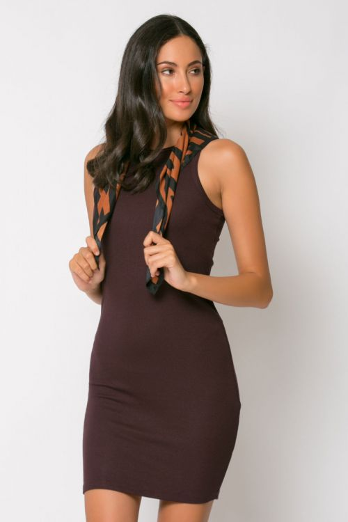 Φόρεμα ριπ μίνι messina-ΚΑΦΕ