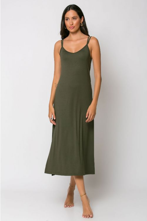 Μίντι φόρεμα brescia-ΧΑΚΙ