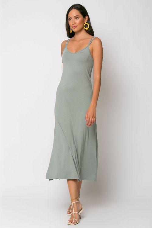 Μίντι φόρεμα brescia-ΓΚΡΙ ΤΟΥ ΠΑΓΟΥ