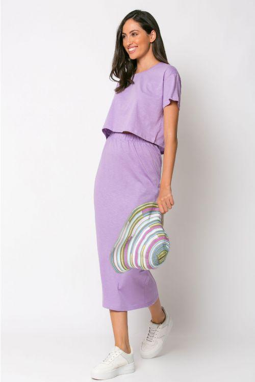 Σετ κροπ τοπ με φούστα rome-ΛΙΛΑ