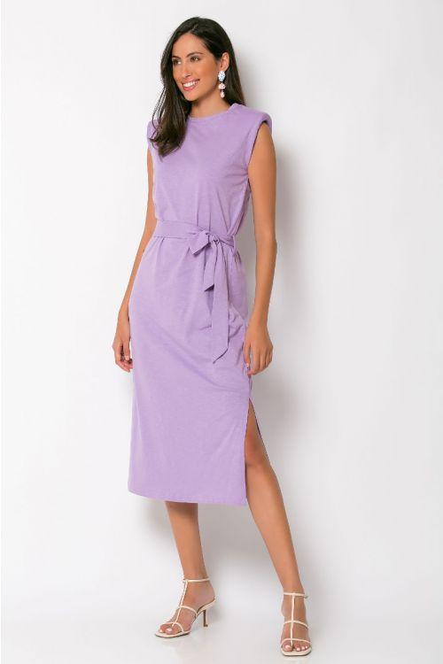 Μίντι φόρεμα με βάτες brescia-ΛΙΛΑ