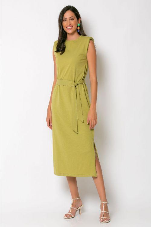 Μίντι φόρεμα με βάτες brescia-ΛΑΔΙ