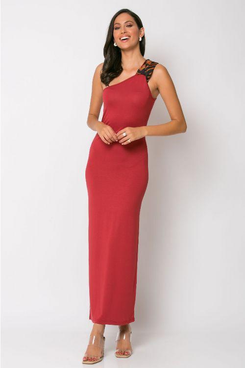 Φόρεμα με ένα ώμο parma-ΚΕΡΑΜΙΔΙ