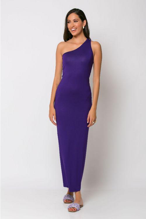 Φόρεμα με ένα ώμο parma-ΜΩΒ