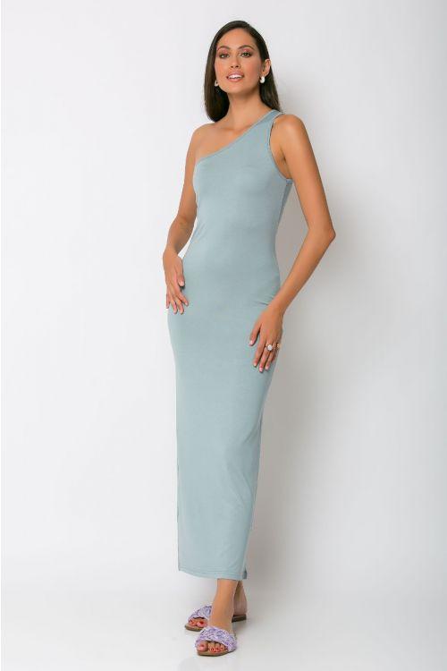 Φόρεμα με ένα ώμο parma-ΣΙΕΛ