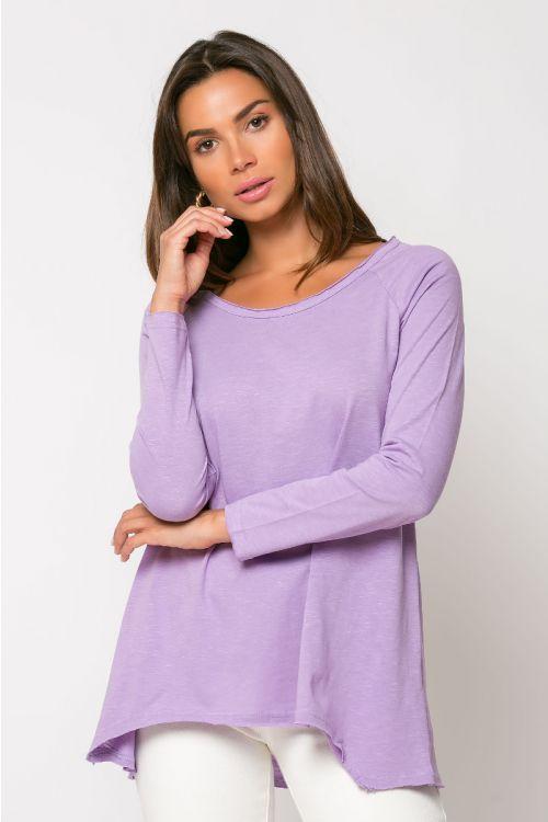Ασύμμετρη μπλούζα reggio-ΛΙΛΑ