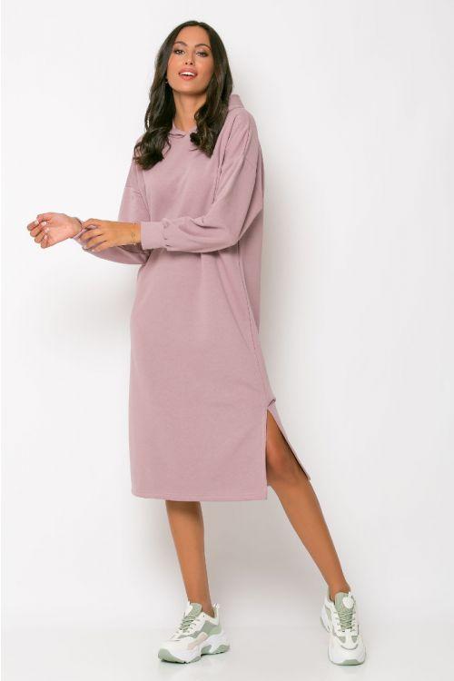 Φούτερ φόρεμα με κουκούλα modena-ΣΑΠΙΟ ΜΗΛΟ