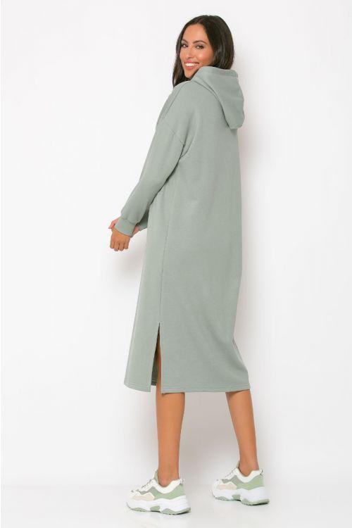 Φούτερ φόρεμα με κουκούλα modena-ΓΚΡΙ ΤΟΥ ΠΑΓΟΥ
