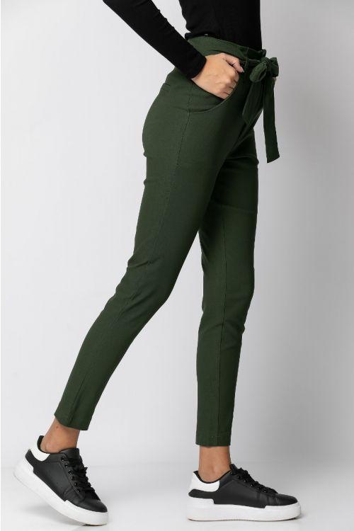 Παντελόνι ελαστικό με ζωνάκι-ΧΑΚΙ