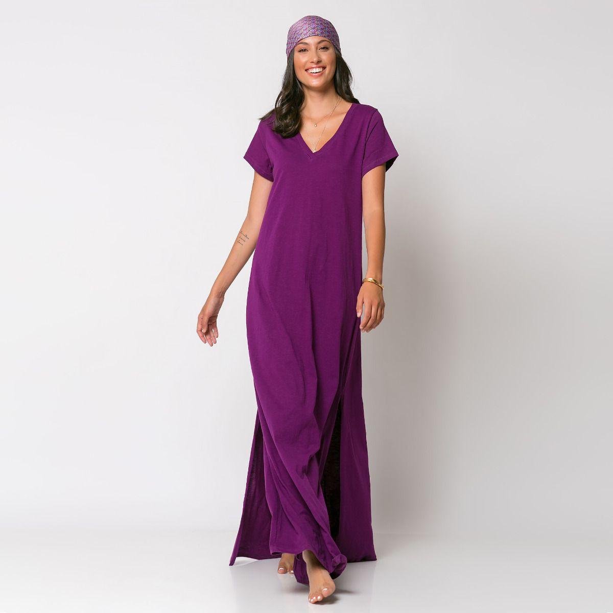 Μάξι φόρεμα με V λαιμόκοψη